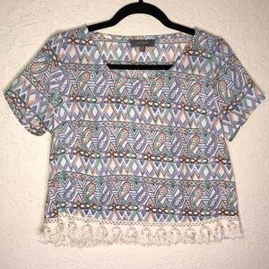 Umgee Tribal Print Crop Top